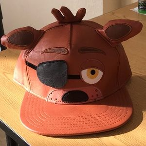 Leather eyepatch foxy five nights at Freddy hat